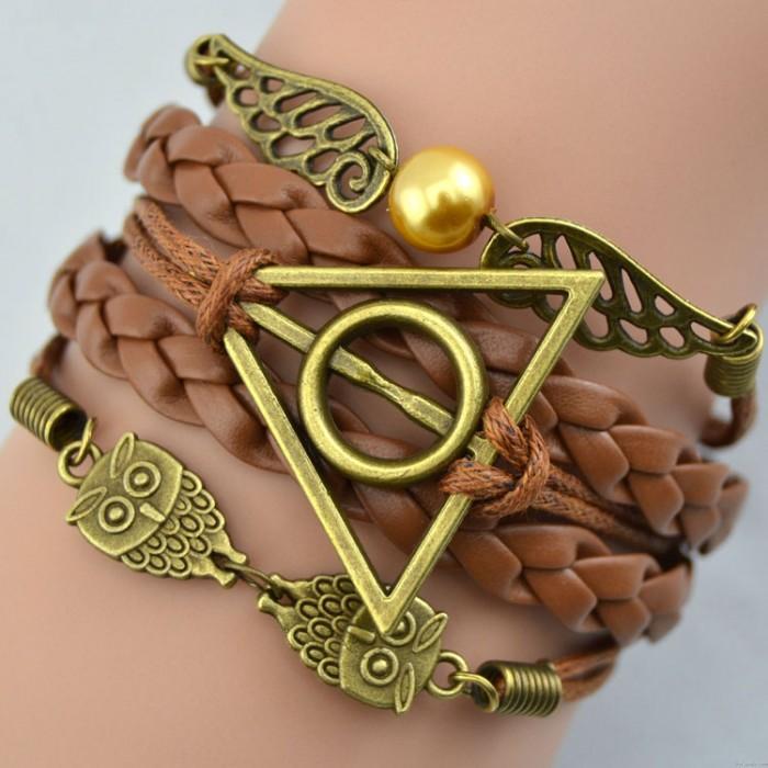 Bracelet hibou ailes de reliques de la mort