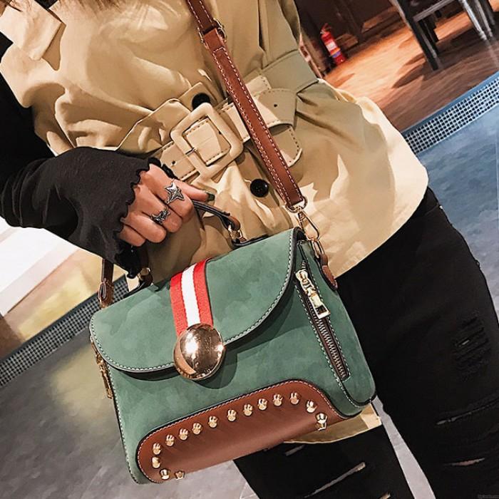 Blocage de couleur de contraste unique Sac à bandoulière sac à main