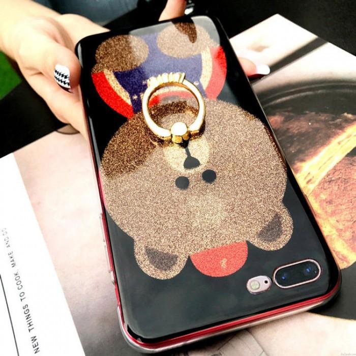 Brillant mignon ours brillant Iphone Animal Couverture Iphone 6 / 6s / 6 plus / 6s plus / 7/7 plus / 8/8 plus