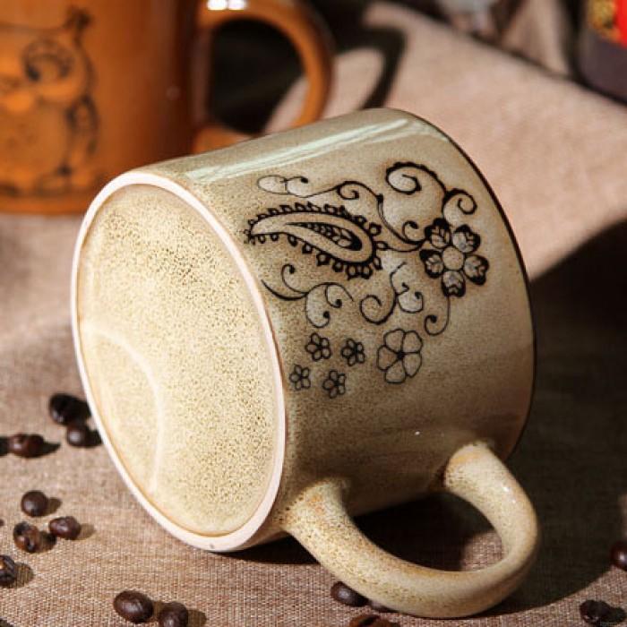 Retro Personality Hand-painted Ceramic Mug/Coffee Cup