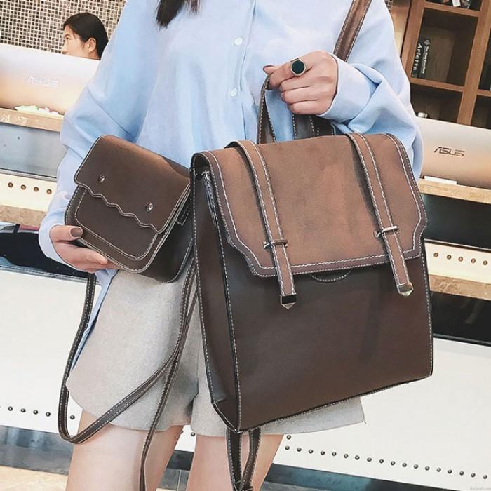 Loisir givré à rabat carré ceinture sac d'école cadeau petit sac à bandoulière fille Vintage PU collège sac à dos