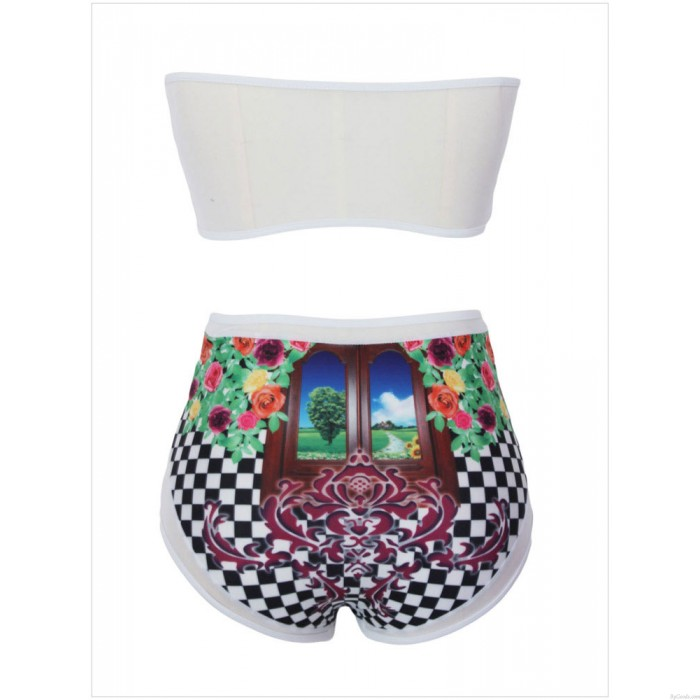 Fresh Sexy Flower Printing Bikini