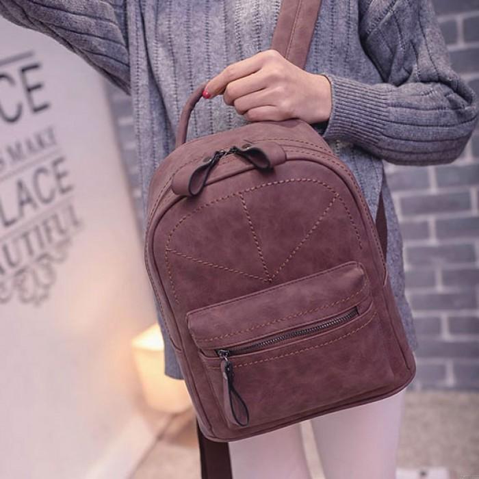 Rétro fil givré motif géométrique loisirs simple sac à dos scolaire