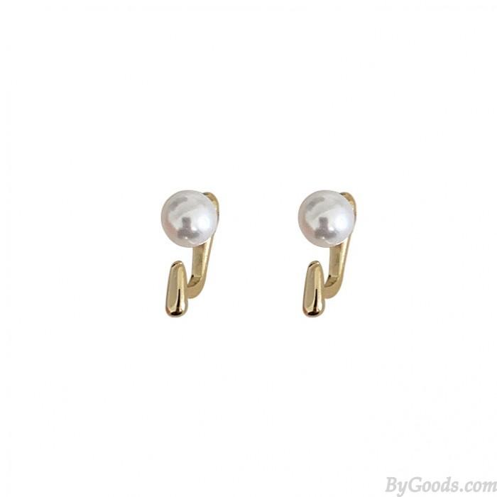 Frijoles de perlas de moda Pendientes simples de calidad AAA para mujer Regalo para sus pendientes de plata