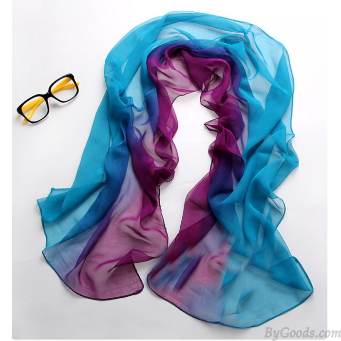 Blue fix Purple tie-dye gradient infinity scarf