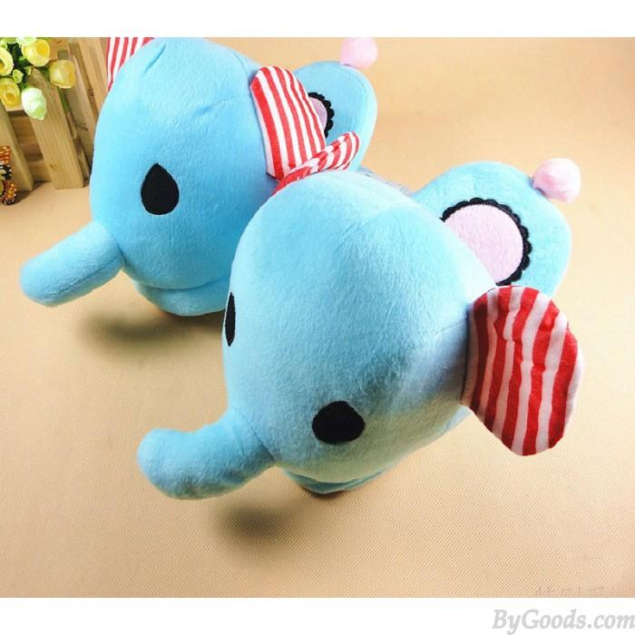 Great Christmas Gift:Elephant Cartoon Plush Soft Minion Shoes