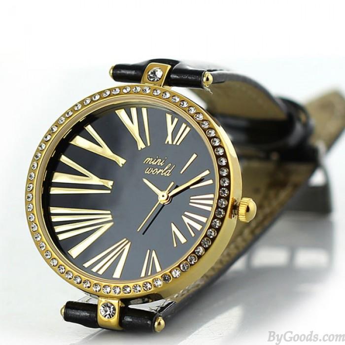 Reloj de cuarzo de diamantes de imitación de arcilla romana de arcilla polimérica vintage