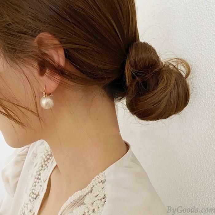 Pendientes de mujer de ley chapados en oro de 14 quilates con perlas retro regalo para novia