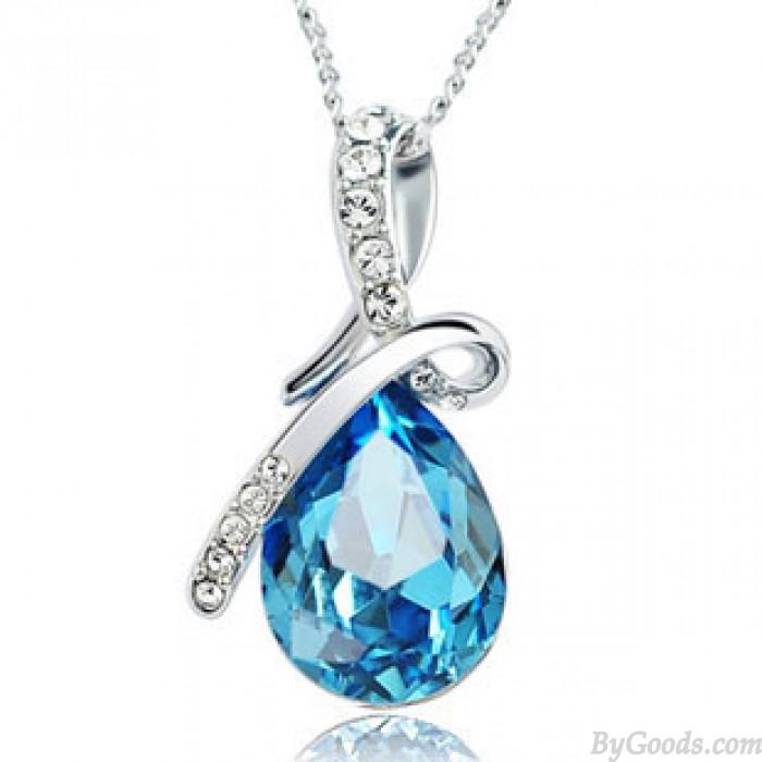 Collar de cristal de lágrimas de ángel de diamante