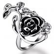 Retro Personalidad Rosa Patrón anillo Enamorado Regalo