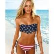 traje de baño atractivo de la borla de la nueva bandera americana Bikinis