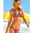 Leopardo atractivo de la impresión floral del bikini traje de baño