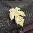 Collar Colgante De Plata 925 Hoja De Arce De Plata