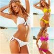 Acero atractivo del cuidado del pecho del arco traje de baño bikini