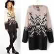 British Style Geometric Snow Sweater