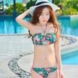 Nuevo Bikini Impreso Floral Sexy Mujeres Halter Traje de baño de playa
