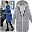 Abrigo con capucha de manga larga con capucha Abrigo con capucha de abrigo con capucha