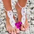 Sandalias de punto sin costuras Descalzas Sandalias hechas a mano de joyería para el tobillo