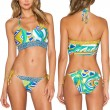 Peinado de las plumas de impresión Bikini Set Maillots de baño maillots de bain