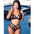 Hueco Fuera Bikini Negro Vendaje Triángulo Trajes de baño Bikini Conjunto