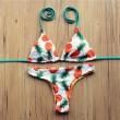 Cabestro Piña Impresión Multifunción Bikini Único Traje de baño Baños Trajes Trajes de baño