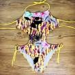 Conjunto de bikini de vendaje hueco traje de baño de una pieza halter traje de baño