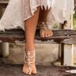 Accesorios para pies lindos hechos a mano Diamantes de verano Tobilleras de borla étnicas bohemias
