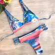 Bikini de impresión traje de baño de cabeza de Tiger Twist Fried Twist
