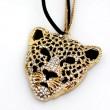 Bohemia Leopard Head Hollow Sweater Necklace