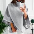 Ocio Cálido Irregular Manga larga con cuello alto Suéter de las mujeres