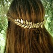 Único Hojas Aleación Pinza para el cabello Accesorios para el cabello Leaf Hair Comb