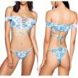 Traje de baño Sexy Off Shoulder Traje Bikini del Vientre Set Traje de Baño Atractivo