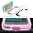 Funda transparente para iPhone 5 / 5s con color caramelo LED