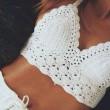 Bikini de traje de baño hecho a mano Crochet Beach