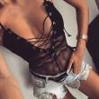 Sexy Hueco Bustiers Peluches Haz Cordón Íntimo Mujer Lencería