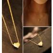 Lindo collar colgante en forma de corazón de oro