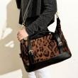 Bolso bolso de leopardo de la manera atractiva