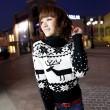 Christmas Deer Snowflake High Collar Sweaters