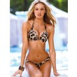 traje de baño atractivo del leopardo del diamante de la honda de Bikinis