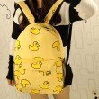 Sweet Cute Banana & Leeks & Hands Print Canvas Backpack