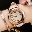 Moda brillante diamante que fluye números romanos marque el reloj de cuarzo de las mujeres