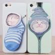 Linda Gato Animal Silicona Fundas Iphone 4s / 5c / 5s / 6