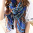 Bufanda del paño grueso y suave de la bufanda del mantón de la bufanda del patrón de señora Folk Shawl Scarf