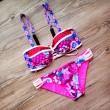 Juego de Bikini de Impresión enrejado Traje de baño de playa Traje de baño de las mujeres