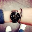 Harajuku Reloj de pulsera de acero simple Reloj de cuarzo de estudiante