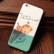 El beso del gato Fish Milk Cow Pattern Soft Relief Silicone Cases para Iphone 5 / 5S / 6 / 6S