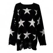 Unique Stars Printed Knit&Sweater
