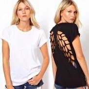 Camiseta especial de manga corta con alas de ángel