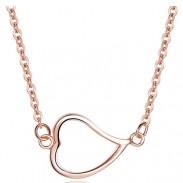 Collar de plata de ley 925 de Love Heart