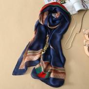 Geometría impresa fresca seda mantón / bufandas